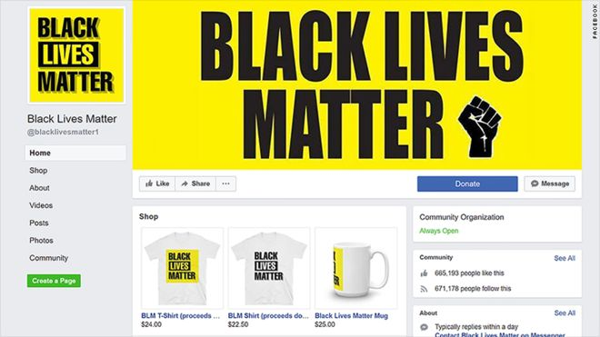 Fake Black Lives Matter Page Found on Facebook